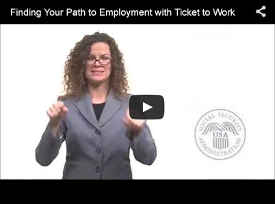 thumbnail image of Ticket to Work video in American Sign Language