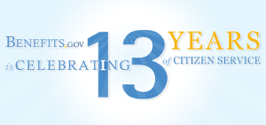 Benefits.gov is celebrating 13 years of citizen service