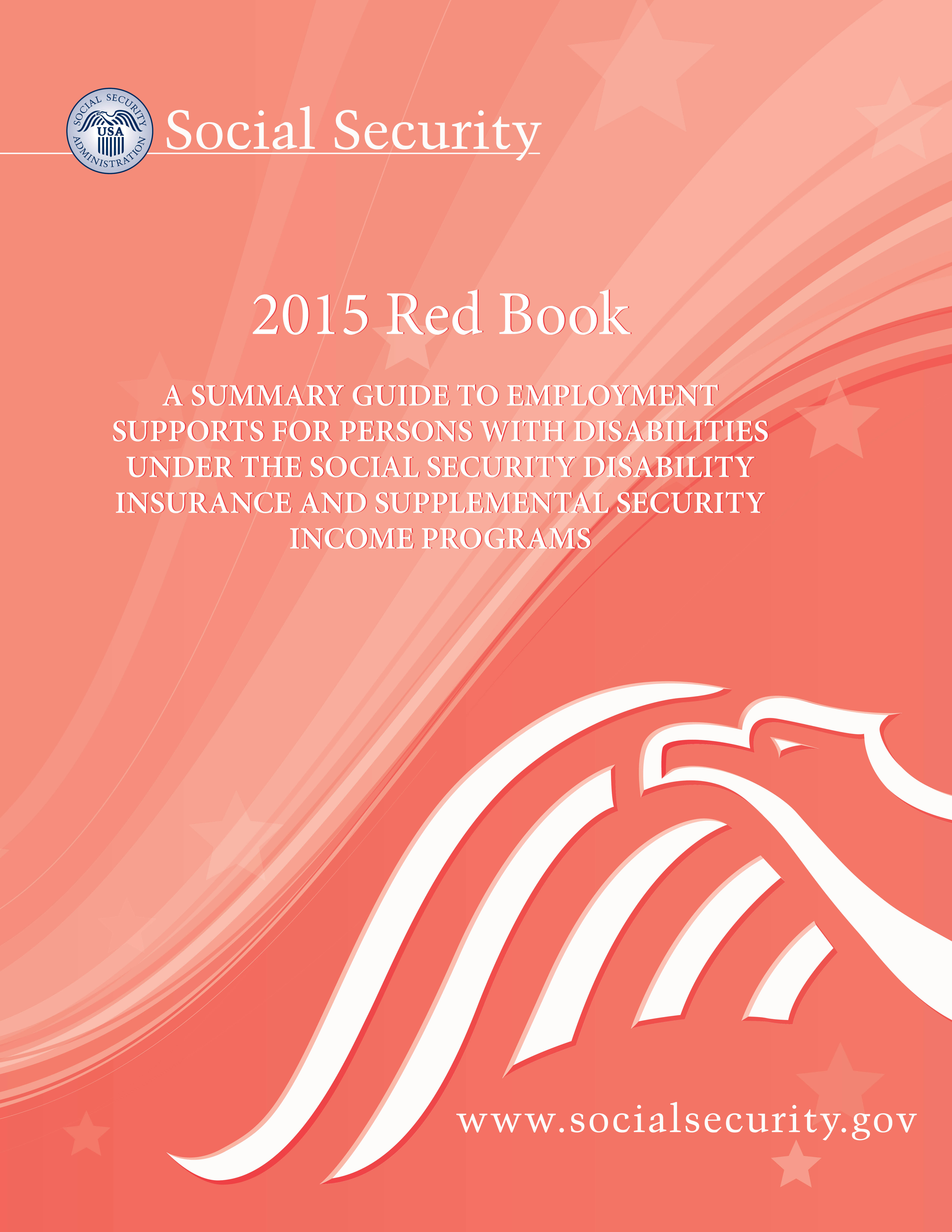 Cover of the 2015 Red Book Summary Guide to Supports for People with Disabilities under SSI and SSDI