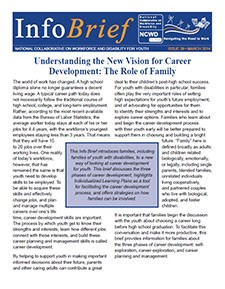 Image of a guide called: Understanding the New Vision for Career Development: The Role of Family