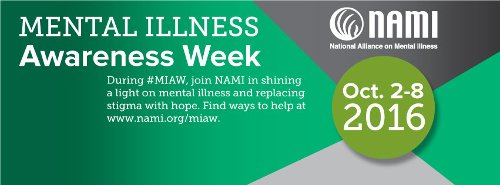 Mental Illness Awareness Week poster