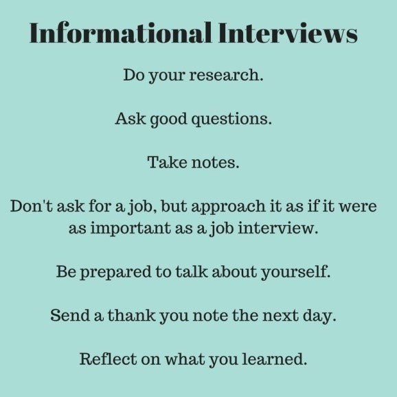 Informational Interviews: Learn from Others about a Job or Career