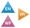 EN, VR and WF icons