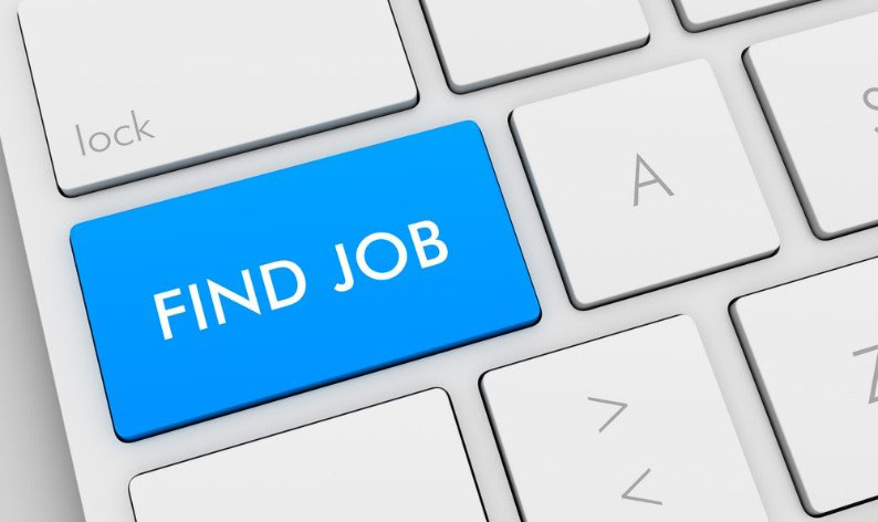 """Find Job"" written on keyboard key"