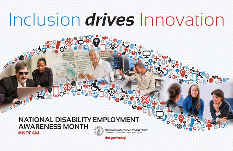NDEAM Poster reading Inclusion drives Innovation