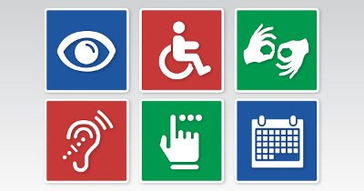 Compilation of icons representing different disabilities