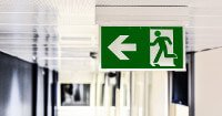 Picture of an exit sign