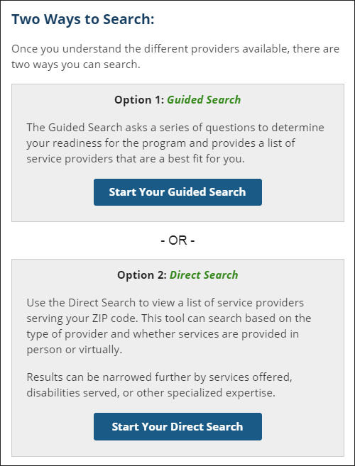Screenshot of the Find Help tool