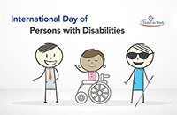 Banner image for International Day of Persons with Disabilities featuring Ben and friends with disabilities