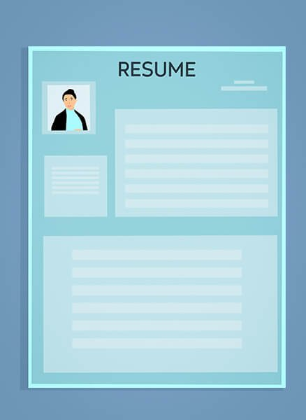 Graphic of a resume