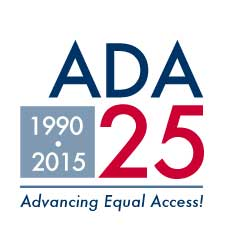 Americans with Disabilities Act 25th Year Anniversary logo