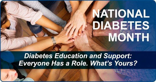 National Diabetes Month - Diabetes Education and Support: Everyone has a role. What's yours?