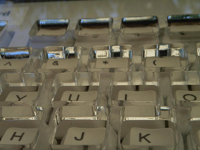 Job accommodation keyboard for people with shaky hands
