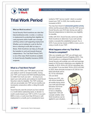 Thumbnail of the Trial Work Period factsheet