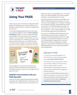 Thumbnail of the Using Your PASS fact sheet