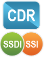 Icons representing CDR, SSDI and SSI